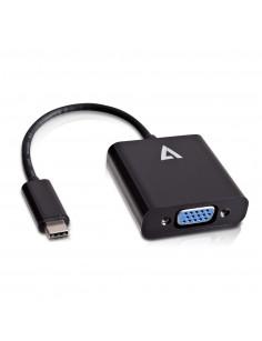 V7 USB-C male to VGA female Adapter Black