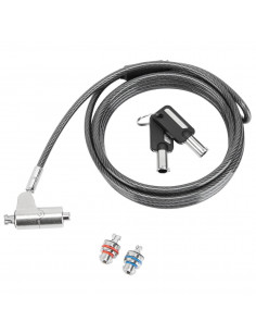 Targus ASP85GL cable lock Silver 2 m