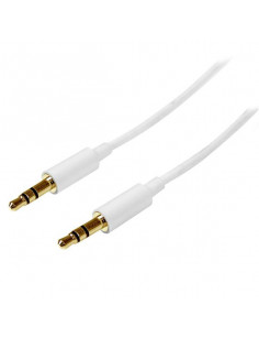 StarTech.com 1m White Slim 3.5mm Stereo Audio Cable - Male to Male