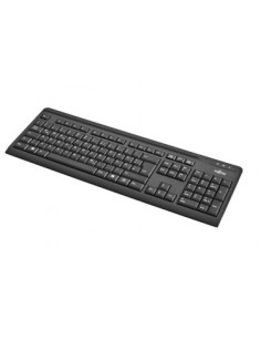 Fujitsu KB410 keyboard USB QWERTZ German Black