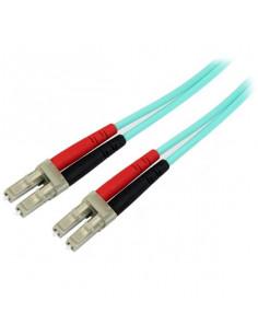StarTech.com Aqua OM4 Duplex Multimode Fiber Optic Cable - 100 Gb - 50 125 - LSZH - LC LC - 2 m