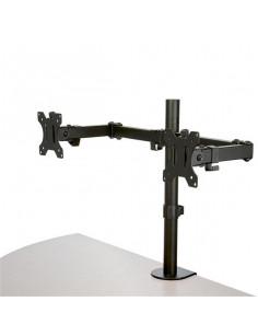 StarTech.com Desk Mount Dual Monitor Arm - Desk Clamp   Grommet VESA Monitor Mount for up to 32 inch Displays - Ergonomic