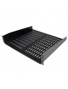 StarTech.com 2U 16in Universal Vented Rack Mount Cantilever Shelf - Fixed Server Rack Cabinet Shelf - 50lbs   22kg