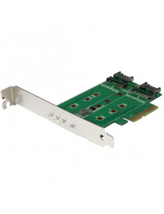 StarTech.com 3-Port M.2 SSD (NGFF) Adapter Card - 1 x PCIe (NVMe) M.2, 2 x SATA III M.2 - PCIe 3.0