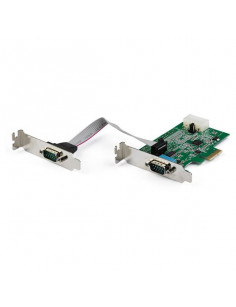 StarTech.com 2-port PCI Express RS232 Serial Adapter Card - PCIe RS232 Serial Host Controller Card - PCIe to Serial DB9 - 16950