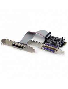 StarTech.com 2 Port PCI Express   PCI-e Parallel Adapter Card – IEEE 1284 with Low Profile Bracket