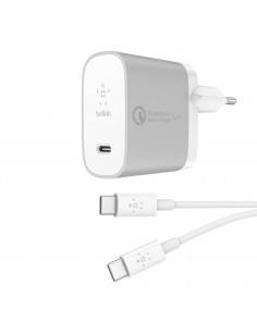 Belkin F7U074VF04-SLV mobile device charger Indoor Silver,White