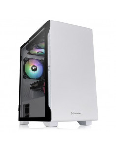 Thermaltake THM CAS S100-TEMPERED-GLASS-SNOW Micro Tower White
