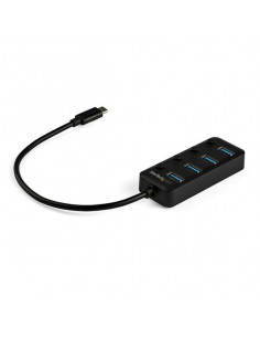 StarTech.com 4-Port USB-C Hub - 4x USB-A with Individual On Off Switches