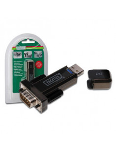 Digitus Converter USB 2.0 D-Sub 9 Male Black