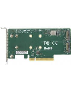 Supermicro AOC-SLG3-2M2 interface cards adapter M.2 Internal