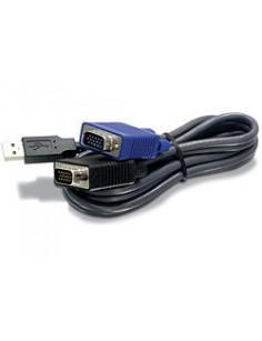 Trendnet 1.8m USB VGA KVM cable Black