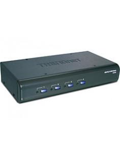 Trendnet TK-423K 4-Port USB   PS 2 Kit w  Audio KVM switch