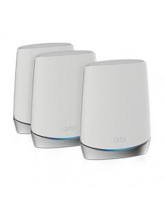 Netgear Orbi WiFi 6 router wireless Tri-band (2.4 GHz   5 GHz   5 GHz) Gigabit Ethernet Din oţel inoxidabil, Alb