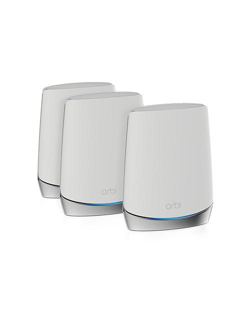 Netgear Orbi WiFi 6 wireless router Tri-band (2.4 GHz   5 GHz   5 GHz) Gigabit Ethernet Stainless steel, White