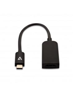 V7 Black USB Video Card USB-C Male to HDMI Female Slim