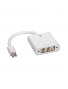 V7 White Video Adapter Mini DisplayPort Male to DVI-D Male
