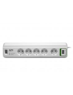 APC PM5T-GR surge protector 5 AC outlet(s) 230 V White 1.83 m