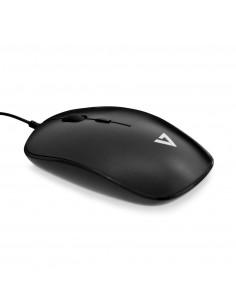 V7 Low Profile USB Optical Mouse - Black