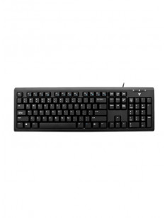 V7 KU200GS-DE Wired Keyboard, Black German QWERTZ Layout, TUV-GS