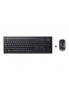 Fujitsu LX410 keyboard RF Wireless QWERTZ German Black