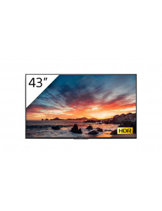 """Sony FWD-43X80H T signage display 108 cm (42.5"""") IPS 4K Ultra HD Digital signage flat panel Black Built-in processor Android 9.0"""