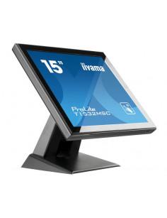 "iiyama ProLite T1532MSC-B5X touch screen monitor 38.1 cm (15"") 1024 x 768 pixels Black Multi-touch"