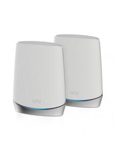 Netgear Orbi WiFi6 wireless router Tri-band (2.4 GHz   5 GHz   5 GHz) Gigabit Ethernet Stainless steel, White
