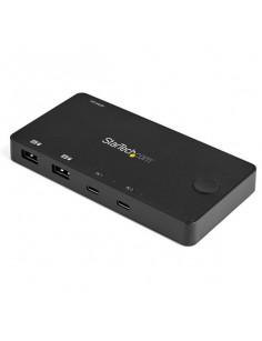 StarTech.com 2 Port USB C KVM Switch - 4K 60Hz HDMI - Compact Dual Port UHD USB Type C Desktop Mini KVM Switch with USB C