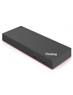 Lenovo 40AN0135EU notebook dock port replicator Wired Thunderbolt 3 Black, Red