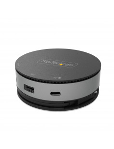 StarTech.com USB C Multiport Adapter - USB 3.1 Gen 2 10Gbps Type-C Mini Dock with 4K 60Hz HDMI DisplayPort or 1080p VGA - 75W