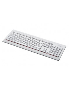 Fujitsu KB521 DE keyboard USB QWERTZ German Grey