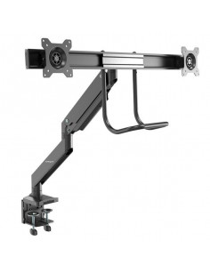 "StarTech.com Desk Mount Dual Monitor Arm - Ergonomic Dual Monitor VESA Mount 32"" (17.6lb) Displays - Crossbar Handle for"