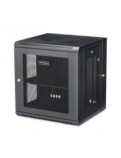 """StarTech.com 12U 19"""" Wall Mount Network Cabinet - 16"""" Deep Hinged Locking IT Network Switch Depth Enclosure - Vented Computer"""