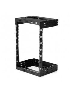 """StarTech.com 15U 19"""" Wall Mount Network Rack - Adjustable Depth 12-20"""" 2 Post Open Frame Server Room Rack for AV Data  IT"""