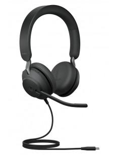 Jabra Evolve2 40, MS Stereo Headset Head-band Black USB Type-C