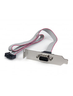 StarTech.com 1 Port 16in DB9 Serial Port Bracket to 10 Pin Header - Low Profile