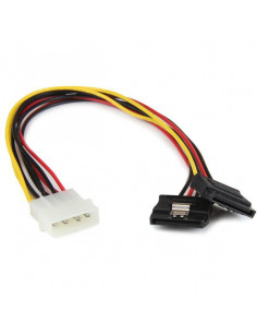StarTech.com 12in LP4 to 2x Latching SATA Power Y Cable Splitter Adapter - 4 Pin LP4 to Dual SATA