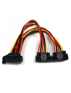 StarTech.com 6in Latching SATA Power Y Splitter Cable Adapter - M F