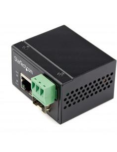StarTech.com Industrial Fiber to Ethernet Media Converter - 100Mbps SFP to RJ45 Cat6 - Singlemode Multimode Optical Fiber to