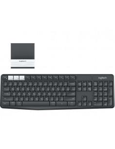 Logitech K375s keyboard RF Wireless + Bluetooth QWERTZ German Graphite, White