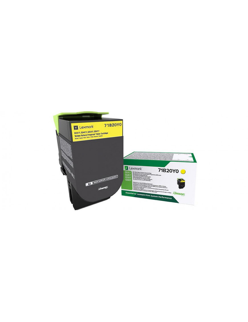 Lexmark 71B20Y0 toner cartridge 1 pc(s) Original Yellow