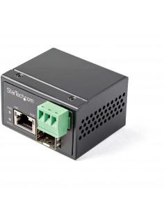 StarTech.com PoE+ Industrial Fiber to Ethernet Media Converter 30W - SFP to RJ45 - Singlemode Multimode Fiber to Copper Gigabit