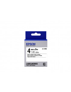 Epson Label Cartridge Standard LK-1WBN Black White 4mm (9m)