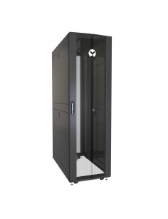 Vertiv VR3300 rack cabinet 42U Freestanding rack Black, Transparent