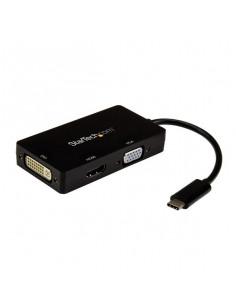 StarTech.com USB-C Multiport Video Adapter - 3-in-1 - 4K 30Hz - Black