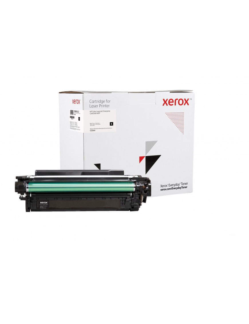 Everyday Black High Yield Toner, replacement for HP CE264X, from Xerox, 17000 pages - (006R04242)