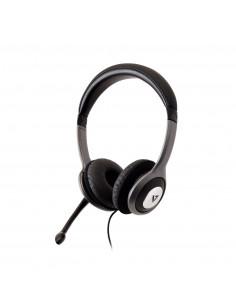 V7 HU521-2EP headphones headset Head-band Black, Silver