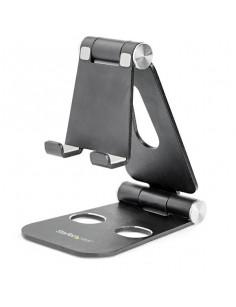 StarTech.com Phone and Tablet Stand - Foldable Universal Mobile Device Holder for Smartphones & Tablets - Adjustable