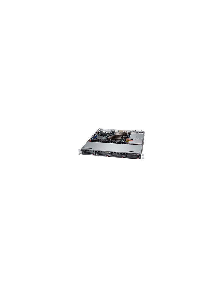 Supermicro SuperChassis 813MFTQ-R606CB Rack Black, Grey 600 W